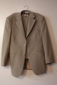 Zanelli dark cream suit - Medium (Lurgan Craigavon Portadown Belfast Lisburn)