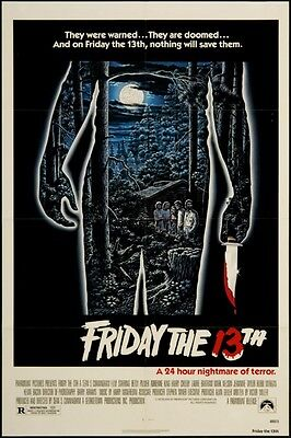 Friday the 13th 8x10 11x17 16x20 24x36 27x40 Movie Poster Vintage Horror A