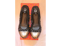 Tory Burch shoes - Abbey Mestico/Metallic - size 6.5 (UK) but 6 (UK) fit best