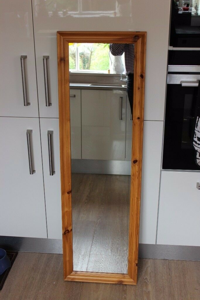 Tall pine rectangular mirror