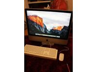 """iMac 24"""" in excellent condition plus apple mouse and keyboard"""