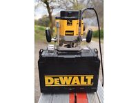 DeWalt electronic router and accessories