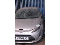 Ford Fiesta, grey colour, 5 doors, 2009 year, Breaking and selling for parts
