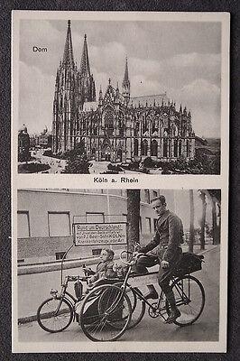 auf Invaliden Selbstfahrer von Beer Köln Krankenfahrzeuge / AK 52