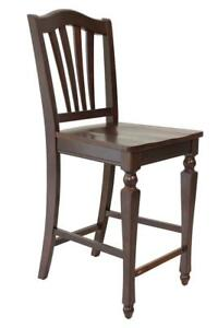Four Sturdy Dining Chair Counter Height In Mahogany