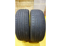 2x 205 50 17 Continental tyre
