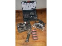 Metabo 18v cordless kit, Batteries and charger