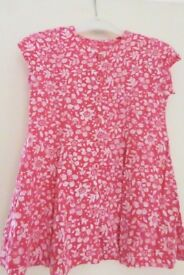 Girls / Toddlers Red & White Dress, age approx 12 - 18 Months, Histon