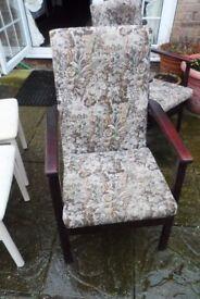 high backed armchair