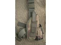 Brand New - Artkis Woodland Pattern - LIGHTWEIGHT Military Pistol Leg Holster