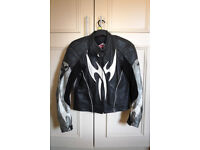 Hein Gericke Armoured Leather Motorbike Jacket Mens Small-Med