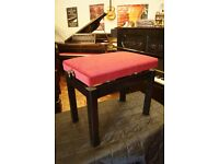 New black varnish adjustable piano bench. Can post UK wide