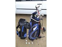 Golf club set + spare bag + trolley