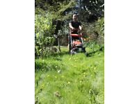 Garden Services including grass cutting, strimming, hedges, spraying and general maintenance.