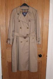 Ladies Traditional Vintage Burberrys Trench Coat Mac Raincoat - Size 12/14
