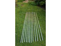 12x 2 metre lengths of 16mm Aluminium Rail plus steel track gauge - As new, unused