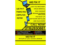 WE FIX IT, PC/LAPTOP SERVICING AND REPAIRS, MOBILE REPAIRS, CALL OUTS