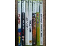 7x Xbox 360 Games Section, Pure, Lego Batman Tom Clancy's Rainbow Vegas Splinter cell Conviction Exc