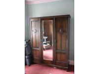 wooden 3 door wardrobe