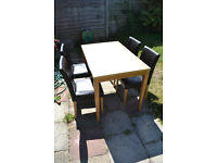 Table and 4 chairs for free (till Friday)