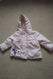 Baby girls minnie mouse coat 6-9months