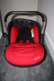 Silver Cross Ventura infant baby car seat - red **can post**