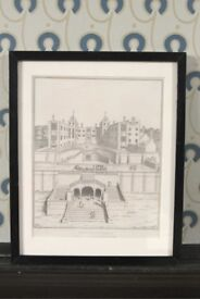 Framed and glazed print of Wimbledon Palace