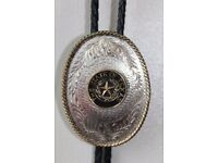 Country & Western Genuine American leather Bolo Tie