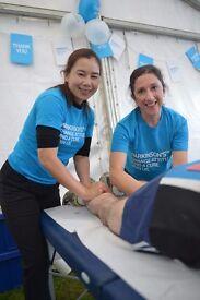 Massage therapist needed for cycling event - Striling - 6 August