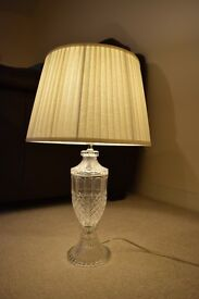 table lamp: Cut glass look lamp with shade