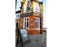 Assistant Manager required for small independent Pub