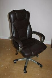 Office chair- brown, leather effect