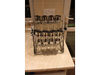 Rotary Spice Rack with 20 labelled spice bottles (Costco)