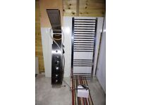 Unused Shower - Towel Radiator - Mixer Taps