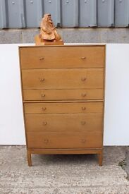 A Swag oak Chest of Drawers.