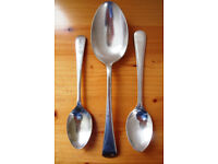 Vintage J Lyons large silver plated spoon,silver plate CPIBC teaspoon + 1 EPNS other.£4 ovno the lot