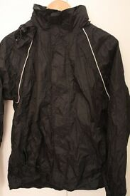 Ladies Peter Storm StormTech Black Lightweight Packable Waterproof Jacket - XS