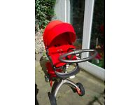 Red Stokke Xplory V3 - Baby buggy excellent condition