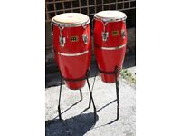 Meinl Quinto and Conga 1984 red and chrome