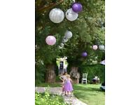 100 Paper Lanterns for Wedding, Garden, Reception, Events