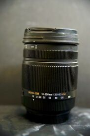 Sigma 18-250mm f3.5-6.3 DC Macro OS HSM lens for Sony Alpha