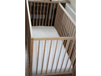 Cot IKEA hardly used with mattress good condition