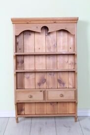 SOLID PINE WALL SPICE RACK WAXED PINE WITH DRAWERS - CAN COURIER - FREE LOCAL DELIVERY