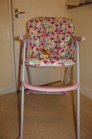GC Mothercare High T Highchair- Butterflies