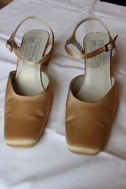 Ladies BHS wedding shoe, size 5. Gold colour