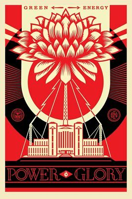 GREEN POWER   SIGNED LITHOGRAPH   OBEY   FAIREY