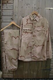 RARE! - Dutch Army KL Desert ISAF Issue Suit (Shirt and Trousers)