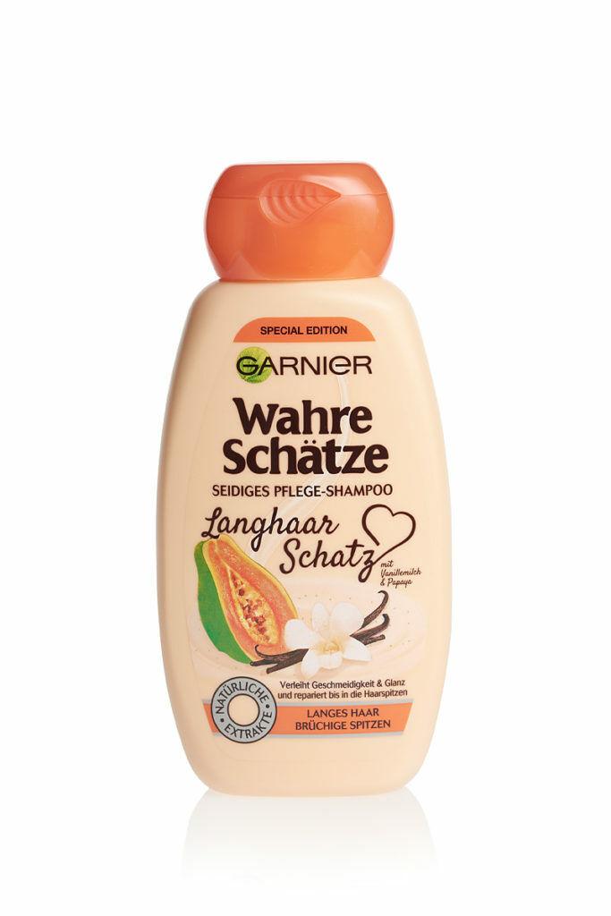 Garnier Wahre Schätze Langhaar Schatz Pflege Shampoo Special Edition 250 ml NEU