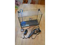 Aquarium (15L) with heater, pump and net!