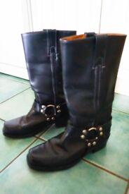 Freyeleather engineer/biker boots